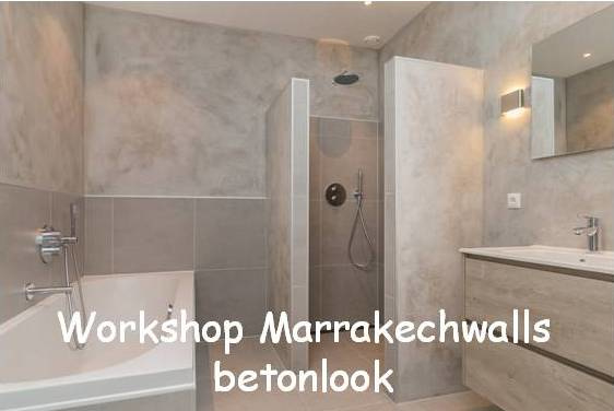 Workshop - Marrakechwalls betonlook