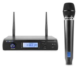 Vonyx WM61 draadloos microfoon systeem  € 89,00
