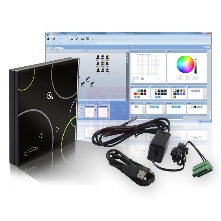 1x Lumidesk TOUCH DMX software controller   € 179,-