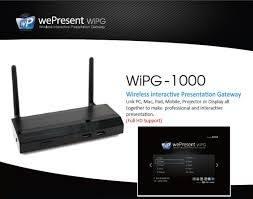 6x WePresent WIPG-1000   € 250,- Per Stuk