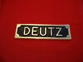 PL18.    ,,   DEUTZ ,,  TYPE PLAAT IN MESSING