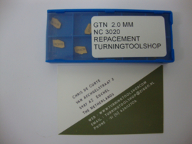 KW1.    STEEKPLAAT GTN TYPE  2.0 MM . TURNINGTOOLSHOP
