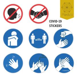 Corona preventie sticker set