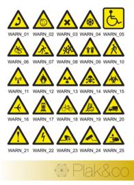 Waarschuwing stickers