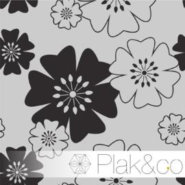 Japans Bloemen Patroon 2 raamfolie