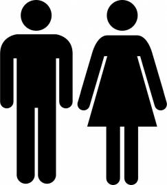 Man Vrouw symbool toilet