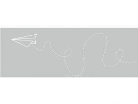 Raamfolie Papieren vliegtuigje