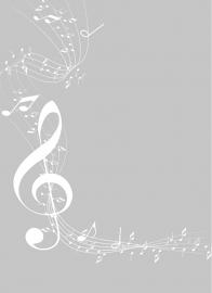 Raamfolie Muziek