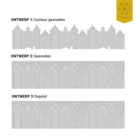Raamfolie Hollandse Huisjes