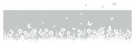 Raamfolie Gras en Vlinders