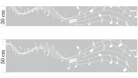 Raamfolie Music