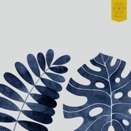 Raamfolie tropische bladeren strook