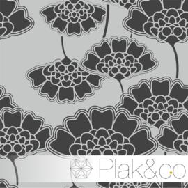 Japans Bloemen Patroon 5 raamfolie