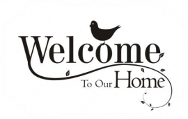 """Raamfolie met """"Welcome to our home"""""""