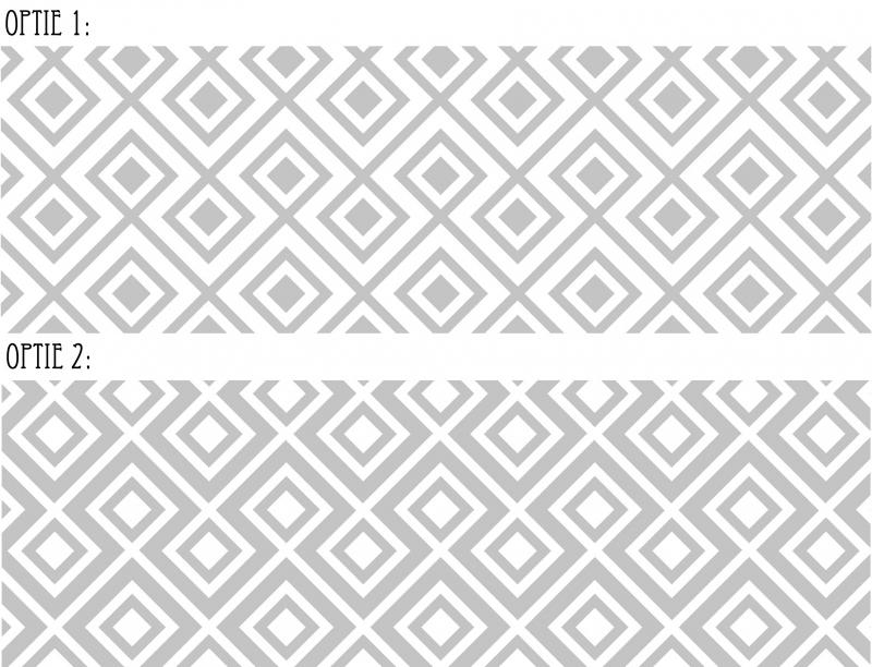 Raamfolie Vierkant Patroon