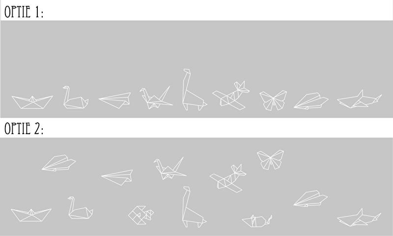 Raamfolie Origami