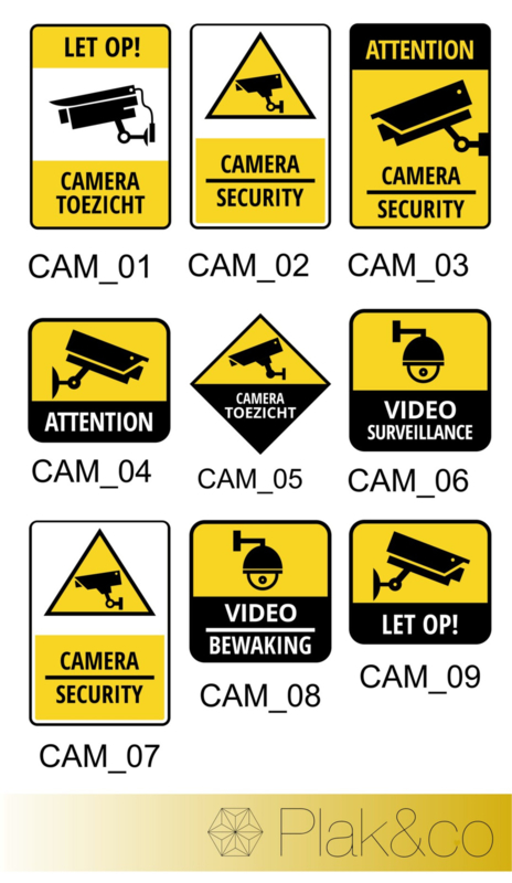 Camera beveiliging stickers