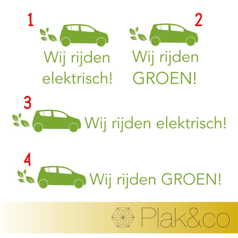 Wij Rijden Groen autosticker