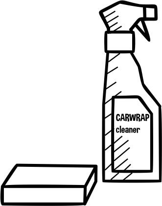 Carwrap cleaner met spons