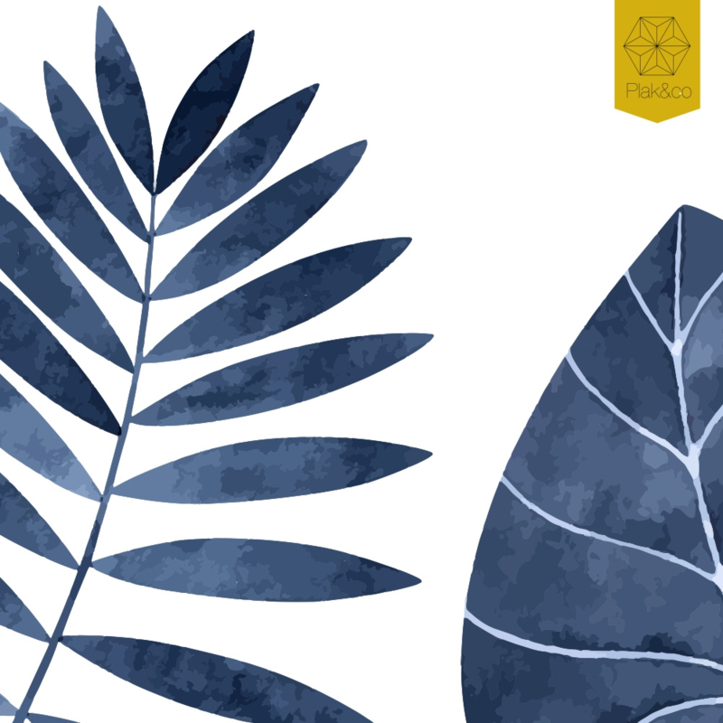 Raamfolie tropische bladeren vorm