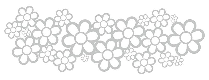Raamfolie Bloemen