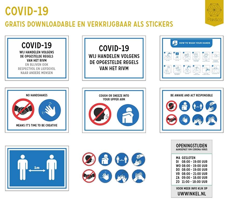 Corona prevent stickers
