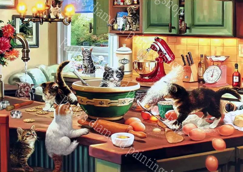 Honden Poezen Katten Hazen En Konijnen Paula Sdiamond Paintingshop