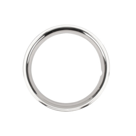 Stainless Steel 15 Inch Wheel Beauty Ring, Smooth