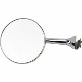 Universal Stainless Clamp-On Rear View Door Front Mirror, 4 Inch