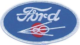 Cloth Patch - Oval Ford V8 Emblem
