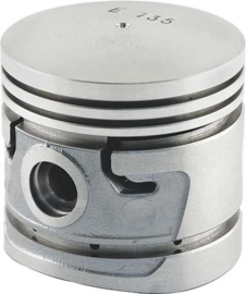 Piston Set With Fitted Pins - Dome Top - Aluminum - Solid Skirt - Ford Flathead V8 95 & 100 HP - 4 Ring Type - 3-3/16 Bore 040-OVERSIZE