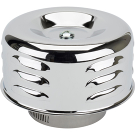 Louvered Style Chrome Air Cleaner, 2-5/8 Inch