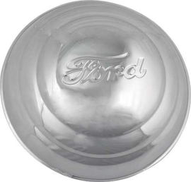 Hub Cap - Ford Embossed - Stainless Steel - 8-1/4 - Ford