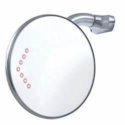Universal Rear View Door Peep Mirror w/ LED Turn Signal, 4 Inch
