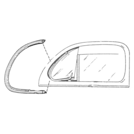 VENT WINDOW RUBBER SEALS -NON-MOLDED CLOSED CAR - 1941-48 FORD CAR N.O.S.