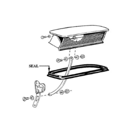 1948-1952 Ford Pickup Truck Cowl Vent Seal