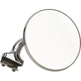 Universal L/R Side Clamp-On Rear View Door Top Peep Mirror, 4 In