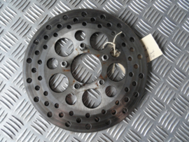 disc 10 inch stainless steel drilled ,