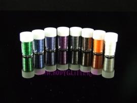 Minisetje Glitters Dark (8 x 2 ml)