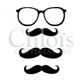 Mustache & Glasses (Duo Stencil)