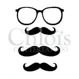 Mustache & Glasses (Duo Stencil)