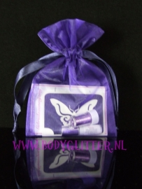 Minisetje Purple Dark Butterfly Loop