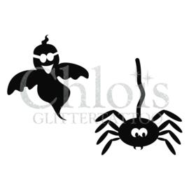 Ghost & Spider (Duo stencil)