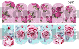 Water Decal Nail Wrap 592
