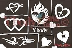 A5 Hearts Themastencil