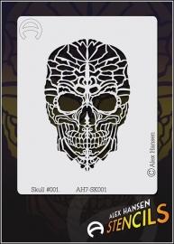 Alex Hansen Small Stencil Skull #001 (AH7-SK001)