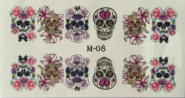 Water Decal Nail Wrap M-08