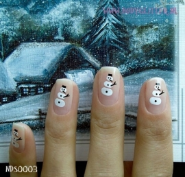 SmART Nails NDS0003 - Snow Man