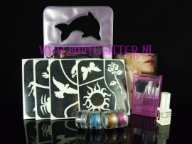 Glitter tattoo set Kids Combi