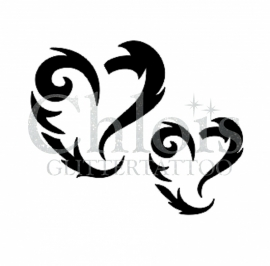 Swirly Heart (Duo stencil)